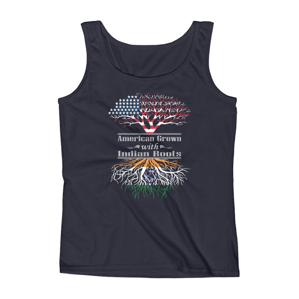 American Grown With Indian Roots - Ladies' Tank - Cozzoo
