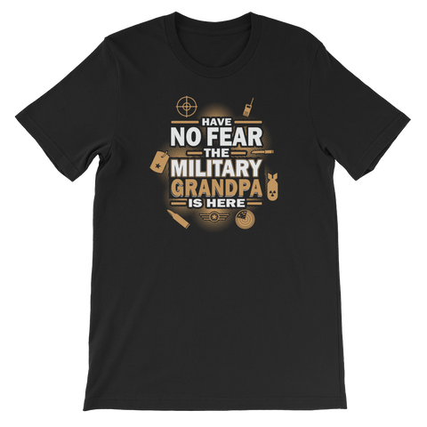 Have No Fear The Military Grandpa Is Here - Short-Sleeve Unisex T-Shirt - Cozzoo