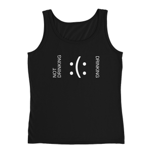 Not Drinking - Drinking - Ladies' Tank - Cozzoo