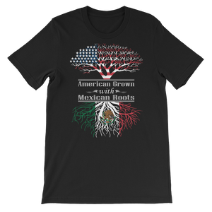 American Grown With Mexican Roots - Short-Sleeve Unisex T-Shirt - Cozzoo