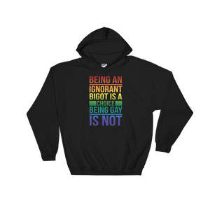 Being An Ignorant Bigot Is A Choice Being Gay Is Not - Hoodie Sweatshirt Sweater - Cozzoo
