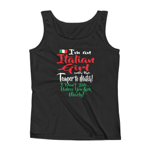 I'm an Italian girl, with the temper to match! I don't bite... unless you ask nicely! - Ladies' Tank - Cozzoo