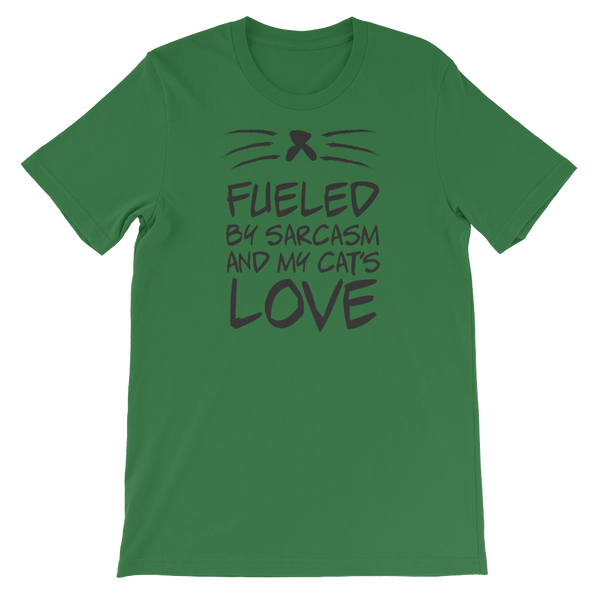 Fueled By Funny And My Cat's Love - Short-Sleeve Unisex T-Shirt - Cozzoo
