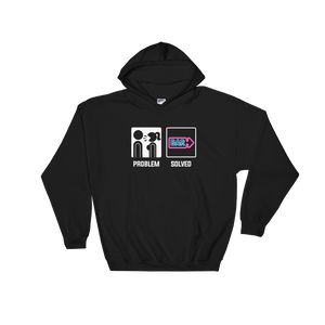Wife Girlfriend Screaming - Problem Solved - Bar - Hoodie Sweatshirt - Cozzoo
