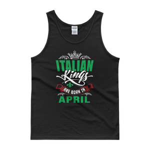 Italian Kings Are Born In April - Tank top - Cozzoo