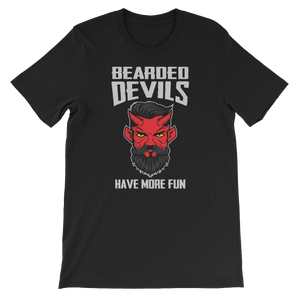 Bearded Devils Have More Fun - Short-Sleeve Unisex T-Shirt - Cozzoo