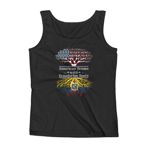 American Grown With Ecuadorian Roots - Ladies' Tank - Cozzoo