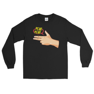 Pew! Pew! - Long Sleeve T-Shirt - Cozzoo