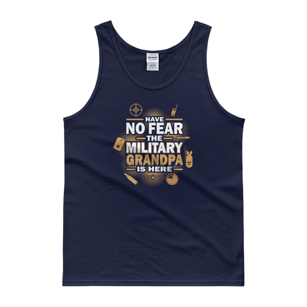 Have No Fear The Military Grandpa Is Here - Tank top - Cozzoo