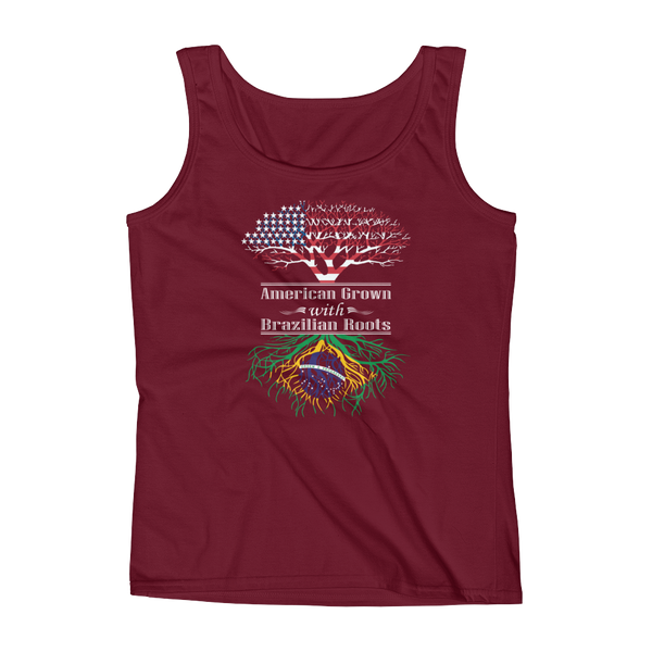 American Grown With Brazilian Roots - Ladies' Tank - Cozzoo