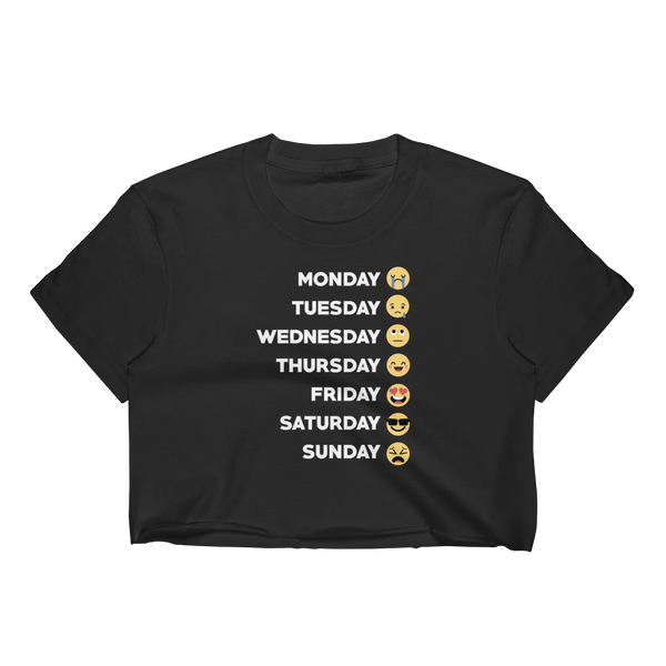 Monday Tuesday Wednesday Thursday Friday Saturday Sunday - Women's Crop Top - Cozzoo