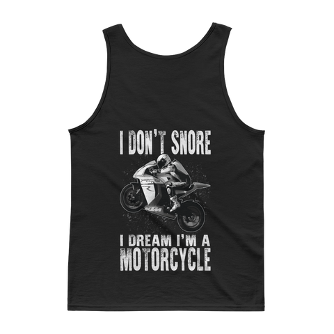 I Don't snore I Dream I'm A Motorcycle - Sportbike - Tank top - Cozzoo