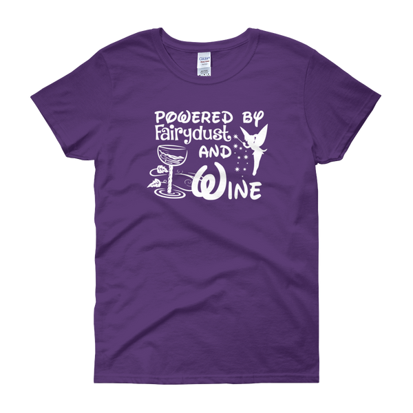 Powered By Fairydust And Wine - Women's short sleeve t-shirt - Cozzoo