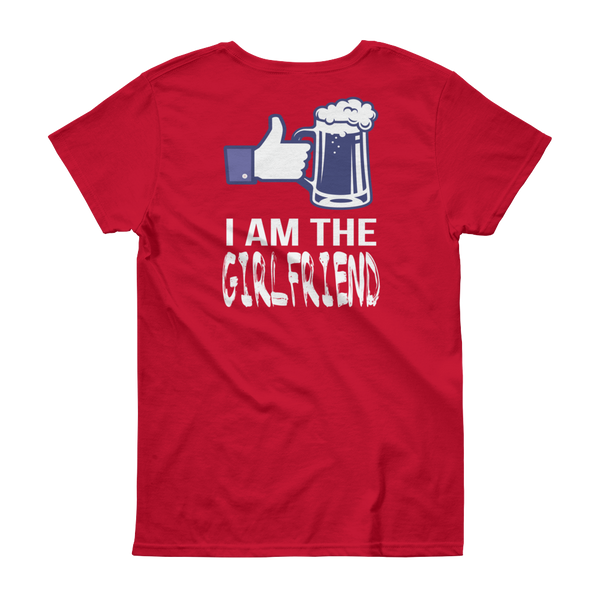 I Am The Girlfriend - Women's short sleeve t-shirt - Cozzoo