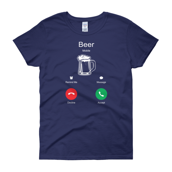Beer Is Calling - Women's short sleeve t-shirt - Cozzoo