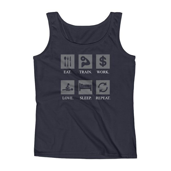 Eat Train Work Love Sleep Repeat - Ladies' Tank - Cozzoo