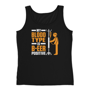 My Blood Type Is B-EER Positive - Ladies' Tank - Cozzoo