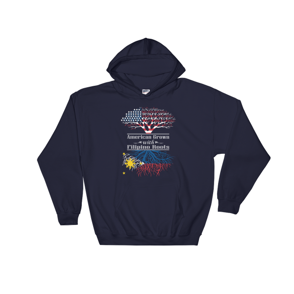 American Grown With Filipino Roots - Hoodie Sweatshirt Sweater - Cozzoo
