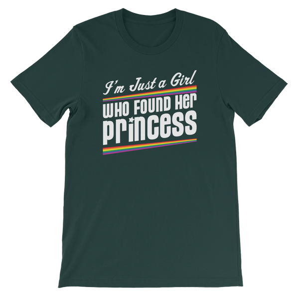 I'm Just A Girl That Found Her Princess - Short-Sleeve Unisex T-Shirt - Cozzoo