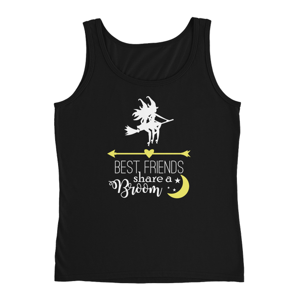 Best Friends Share A Broom - Ladies' Tank - Cozzoo