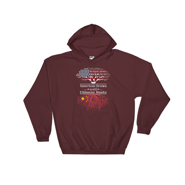 American Grown With Chinese Roots - Hoodie Sweatshirt Sweater - Cozzoo