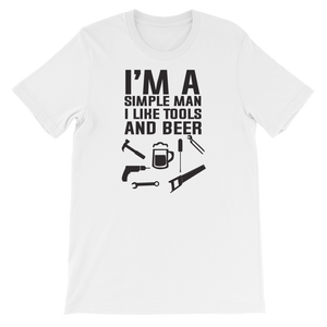 I'm A Simple Man I Like Tools And Beer - Short-Sleeve Unisex T-Shirt - Cozzoo