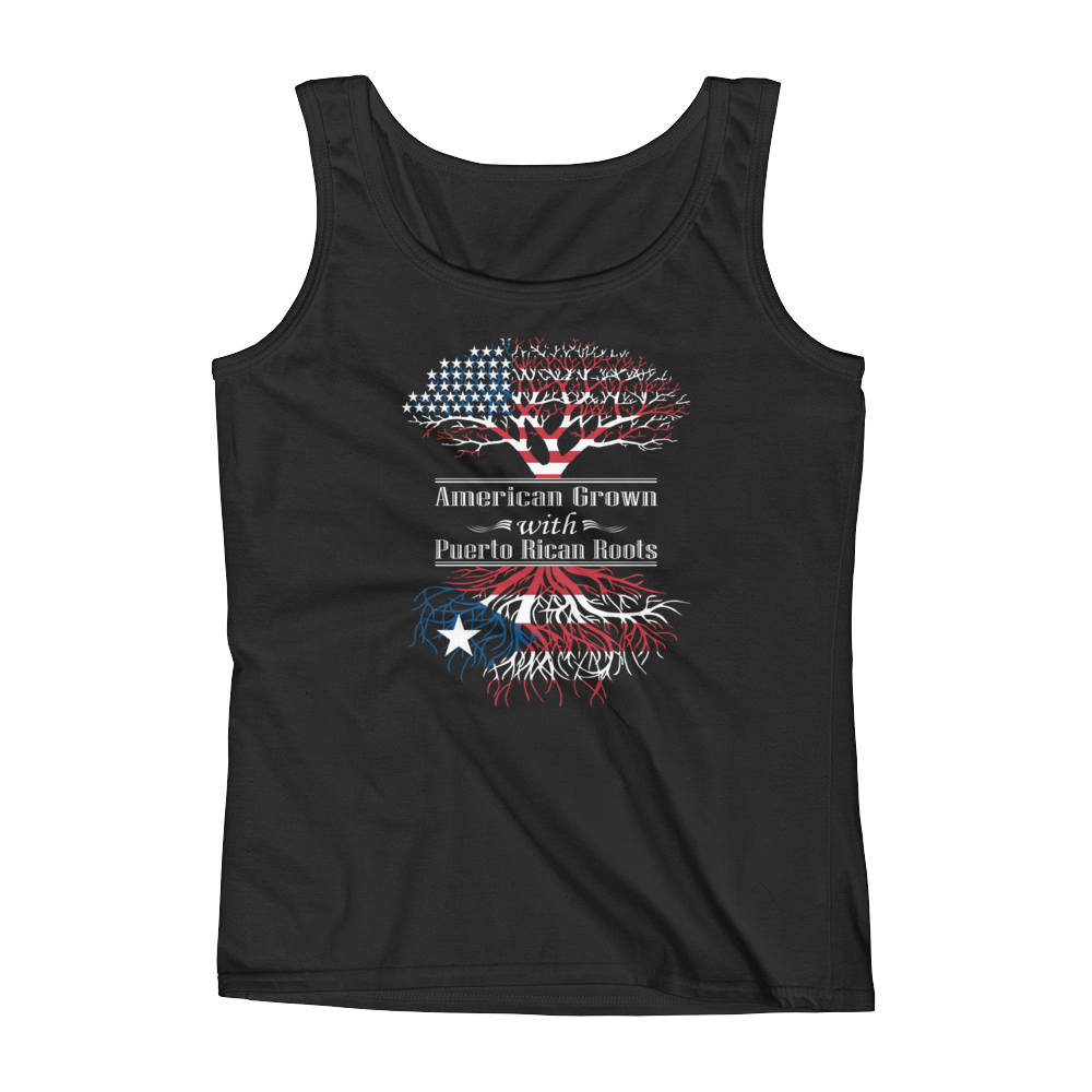 American Grown With Puerto Rican Roots - Ladies' Tank - Cozzoo