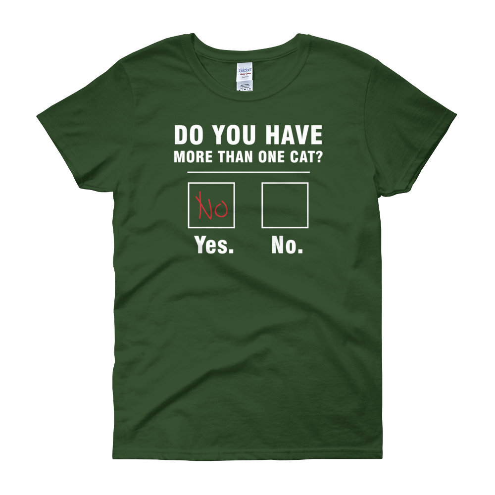 Do You Have More Than One Cat? - Women's short sleeve t-shirt - Cozzoo