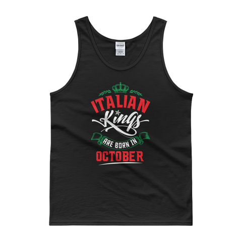 Italian Kings Are Born In October - Tank top - Cozzoo