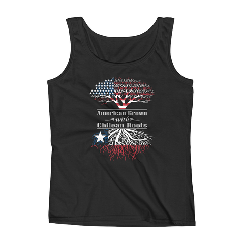American Grown With Chilean Roots - Ladies' Tank - Cozzoo