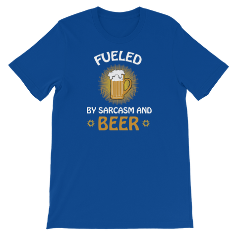 Fueled By Funny And Beer - Short-Sleeve Unisex T-Shirt - Cozzoo