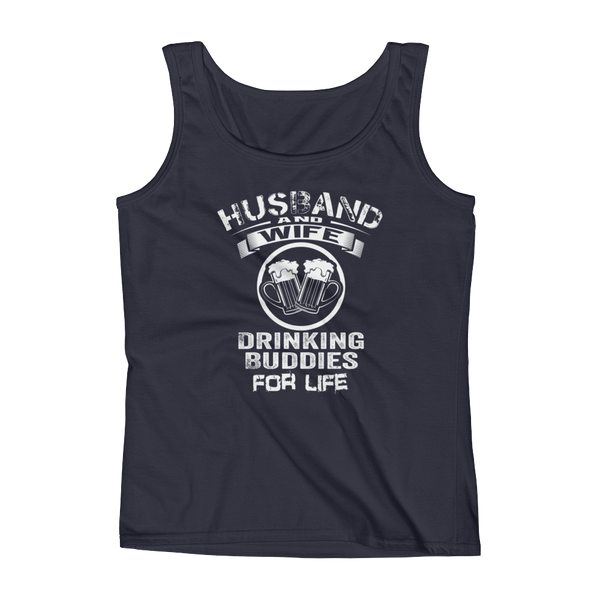 Husband And Wife Drinking Buddies For Life - Ladies' Tank - Cozzoo