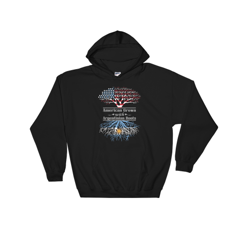 American Grown With Argentinian Roots - Hoodie Sweatshirt Sweater - Cozzoo