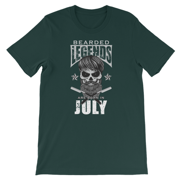 Bearded Legends Are Born In July - Short-Sleeve Unisex T-Shirt - Cozzoo