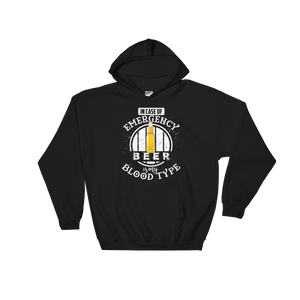In Case Of Emergency Beer Is My Blood Type - Hoodie Sweatshirt Sweater - Cozzoo