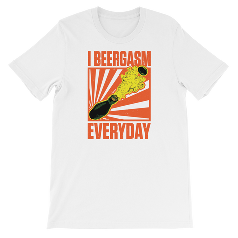 I Beergasm Every Day - Short-Sleeve Unisex T-Shirt - Cozzoo