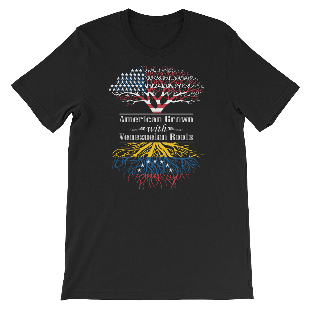 American Grown With Venezuelan Roots - Short-Sleeve Unisex T-Shirt - Cozzoo