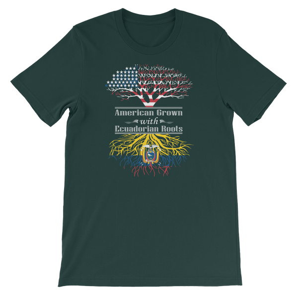 American Grown With Ecuadorian Roots - Short-Sleeve Unisex T-Shirt - Cozzoo