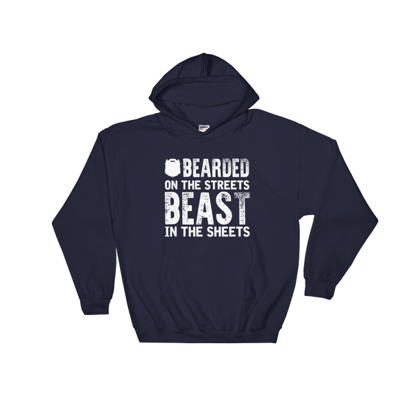 Bearded On the Streets Beast In The Sheets - Hoodie Sweatshirt - Cozzoo
