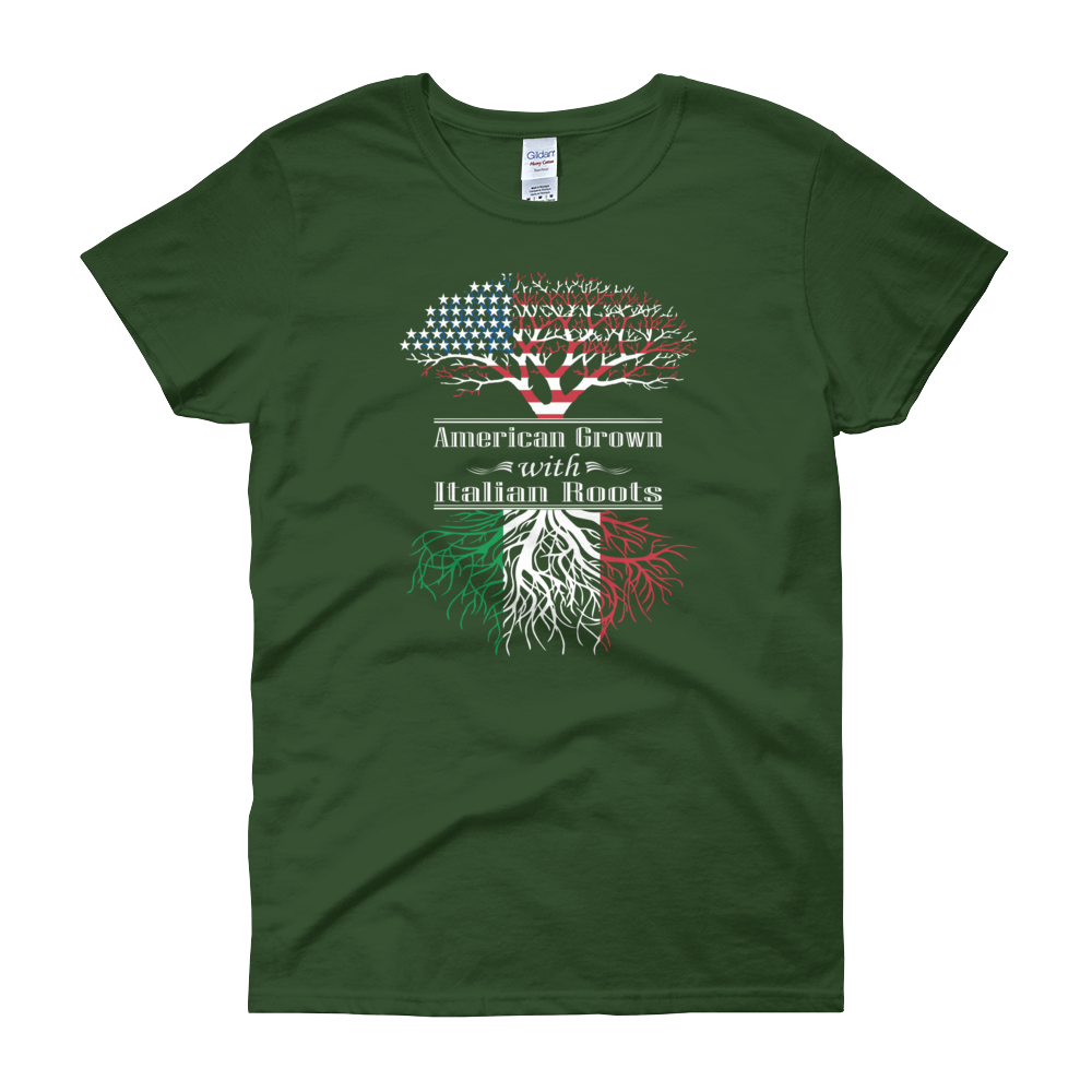 American Grown With Italian Roots - Women's short sleeve t-shirt - Cozzoo