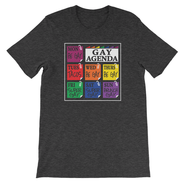 Gay Agenda - Short-Sleeve Unisex T-Shirt - Cozzoo