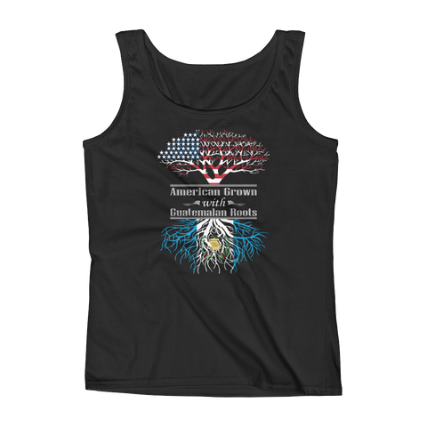American Grown With Guatemalan Roots - Ladies' Tank - Cozzoo