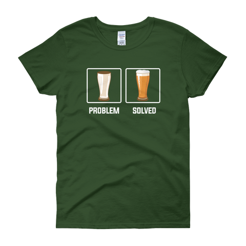 Problem Solved - Beer - Women's short sleeve t-shirt - Cozzoo