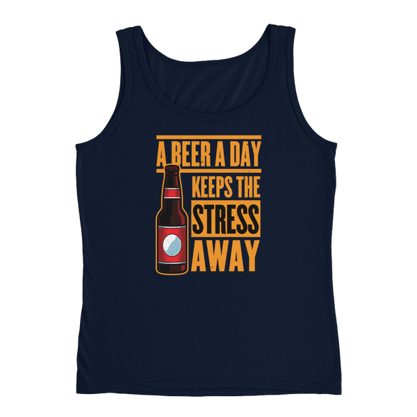 A Beer A Day Keeps The Stress Away - Ladies' Tank - Cozzoo