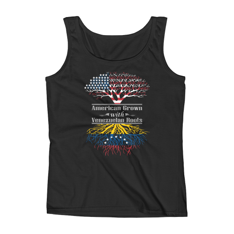 American Grown With Venezuelan Roots - Ladies' Tank - Cozzoo