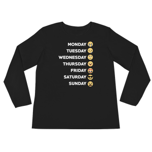 Monday Tuesday Wednesday Thursday Friday Saturday Sunday - Ladies' Long Sleeve T-Shirt - Cozzoo