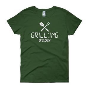 GRILL:ING O'CLOCK - Women's short sleeve t-shirt - Cozzoo
