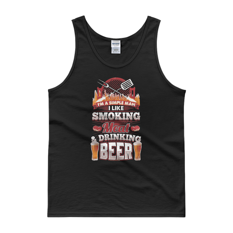 I'm A Simple Man I Like Smoking Meat And Drinking Beer - Tank top - Cozzoo