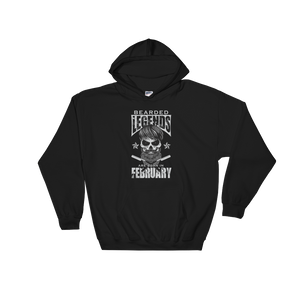 Bearded Legends Are Born In February - Hoodie Sweatshirt - Cozzoo