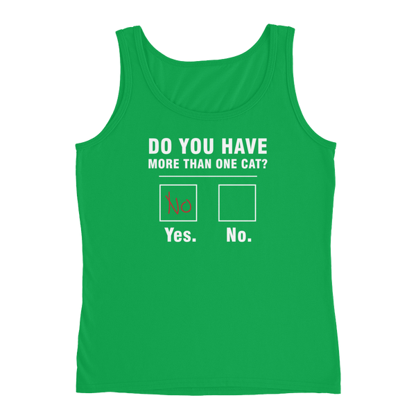 Do You Have More Than One Cat? - Ladies' Tank - Cozzoo